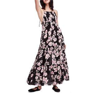 NWT Free People Garden Party Maxi Dress Onyx M